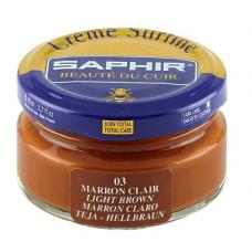Saphir Крем Creme Surfine, банка стекло, светло-коричневый, 50 мл