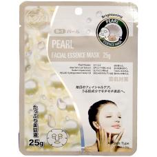 Mitomo Natural 512 Маска для лица Жемчуг, выводящая токсины, 25 гр