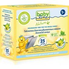 Babyline Nature Таблетки для посудомоечных машин для всей семьи, 25 шт