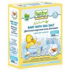 Babyline Nature Детская морская соль для ванн натуральная в фильтр-пакетах, 500 г