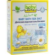 Babyline Nature Детская морская соль для ванн с ромашкой в фильтр-пакетах, 500 г..