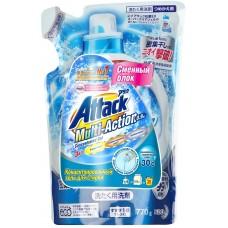 Attack, Multi Action  Концентрированный гель для стирки белья, сменный блок, 0,77 кг