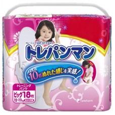 Moony тренировочные трусики для девочек ХL (12-17 кг) 18 шт