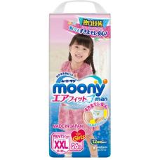Moony, трусики для девочек Super BIG (13-25 кг) 26 шт