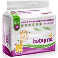 BabyMil впитывающие пеленки 60х40 см, 30 шт