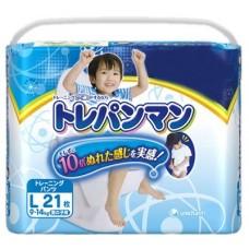 Moony тренировочные трусики для мальчиков L (9-14 кг) 21 шт