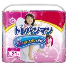 Moony тренировочные трусики для девочек L (9-14 кг) 21 шт