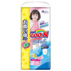 Goo.N трусики для девочек (13-25 кг) 36 шт