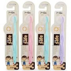 CJ Lion Зубная щетка детская Kids Safe с нано-серебряным покрытием, от 7 до 12 лет
