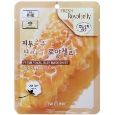 3W Clinic Освежающая тканевая маска для лица с пчелиным молочком, 1 шт