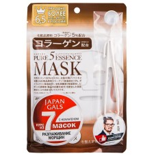 Japan Gals Маска с коллагеном Pure 5 Essential 1 шт