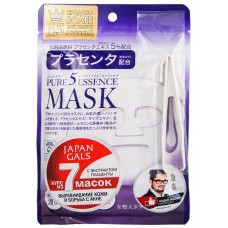 Japan Gals Маска для лица с плацентой Pure 5 Essential, 1 шт