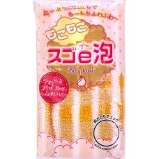 Kokubo Мочалка массажная для тела Sugoe-Awa Body Towel 24*100 см