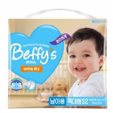 Beffy's extra dry Подгузники для мальчиков XL (от 13 кг) 32 шт