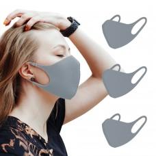 DIZAO Маска многоразовая профилактическая гигиеническая 3D FASHION MASK цвет серый, 1 шт