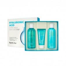 Farmstay Набор средств по уходу за кожей с гиалуроновой кислотой FarmStay Hyaluronic Acid Super Aqua Skin Care 3 Set