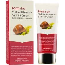 Farmstay ВВ крем для лица с экстрактом муцина улитки  Visible Difference Snail BB Cream SPF50+/PA+++&Whitening &Anti-Wrinkle, 50 мл