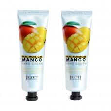 JIGOTT Увлажняющий крем для рук с экстрактом манго Real Moisture Mango Hand Cream, 100 мл х 2 шт