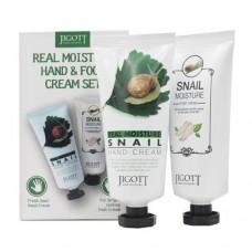 JIGOTT Набор Увлажняющий крем для рук + ног с экстрактом слизи улитки Real moisture hang & foot cream set, 100мл + 100мл