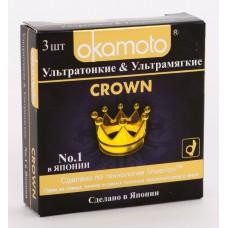Презервативы Okamoto Crown, 3 шт