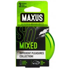 Maxus, Презервативы набор Mixed, 3 шт