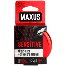 Maxus, Презервативы ультратонкие Sensitive, 3 шт