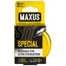 Maxus, Презервативы точечно-ребристые Special, 3 шт