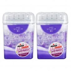NAGARA Aqua Beads Арома-поглотитель запаха гелевый с ароматом лаванды 360 г., 2шт