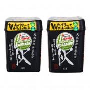 NAGARA Поглотитель запаха гелевый с бамбуковым углем и зеленым чаем, 320 г., 2шт..
