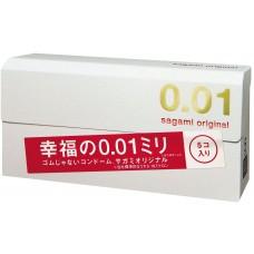Sagami,Презервативы полиуретановые Original 001, 5 шт