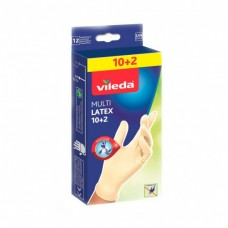 Vileda, перчатки одноразовые размер M/L 12 штук