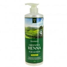 Deoproce Шампунь для волос с зеленым чаем и хной Greentea Henna Pure ReFresh Shampoo, 1000 мл