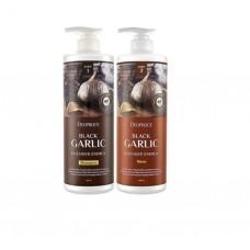 Deoproce Набор Шампунь + Бальзам для волос с экстрактом черного чеснока , 1000 мл + 1000 мл