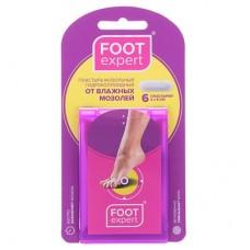 Foot Expert Лейкопластырь мозольный гидроколлоидный размер 2х6 см, 6 шт