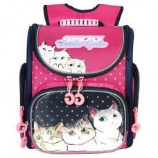 Grizzly, Школьный рюкзак для девочки, фиолетовый, Единорог, RA-973-2