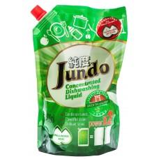 Jundo гель для мытья посуды и детских принадлежностей, Зеленый чай с мятой, запаска, 800 мл