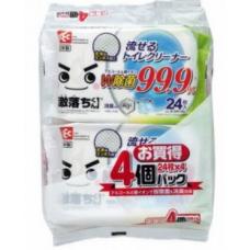 LEC влажные салфетки для обработки унитаза 24 шт. х 2 упаковки