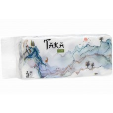 Бумага туалетная Taka Home 3 слоя 10 рулонов, 100% целлюлоза, 150 г