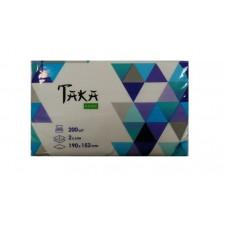 Taka Home Салфетки бумажные Geometria 2 слоя 200 шт (запаска)