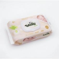 Takeshi Kids Салфетки влажные для детей Экстракт Алоэ вера (с крышкой) 65 шт