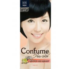 Welcos Стойкая крем-краска для волос Confume Hair Color тон 101 черный, 60мл+60мл+40мл