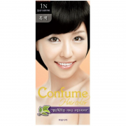 Welcos Стойкая крем-краска для волос Confume Hair Color тон 1N Black, 60мл+60мл+..