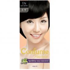 Welcos Стойкая крем-краска для волос Confume Hair Color тон 1N Black, 60мл+60мл+40мл