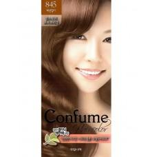 Welcos Стойкая крем-краска для волос Confume Hair Color тон 845 коричнево-медовый, 60мл+60мл+40мл