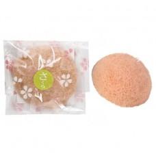 Yamomoto Farm Спонж Конняку для умывания лица с экстрактом листьев сакуры, 1шт