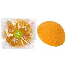 Yamomoto Farm Спонж Конняку для умывания лица с экстрактом цитруса юдзу, 1 шт