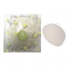 Спонж Конняку для умывания лица Yamomoto Konjac Puff Pearl с жемчужной пудрой / 1 шт.