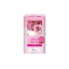 Fujieda Seishi, туалетная бумага двухслойная, аромат розы и малины, 12 рулонов х 27,5 м
