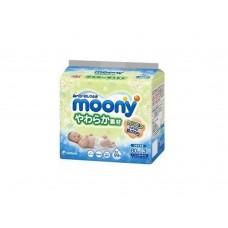 Moony влажные мягкие салфетки для детей запасной блок 80х3 шт (ТРОЙНАЯ)