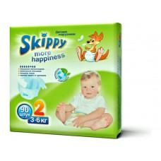 Skippy More Happiness подгузники для детей, размер S (3-6 кг) 90 шт